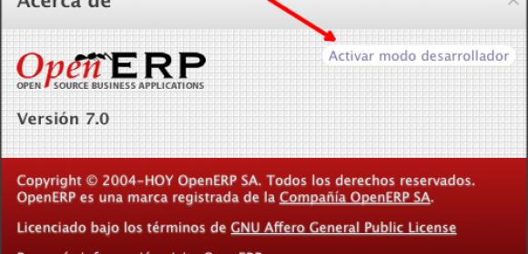 OpenERP v7.0 – Establecer valores por defecto y modo debug