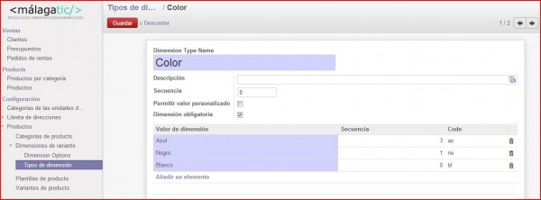 openerp7 colores